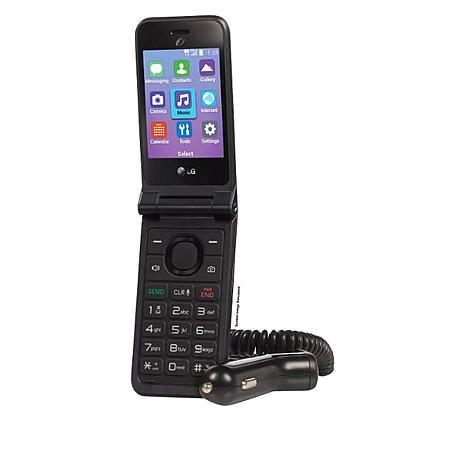 LG Classic Flip Phone Tracfone with 1200 Min/Texts/Data