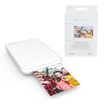 "Lifeprint 3"" x 4.5"" Photo and Video Printer w/25-pack ZINK Photo Paper"