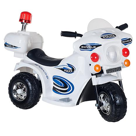 Lil' Rider SuperSport 3-Wheel Battery-Operated Motorcycle  - White