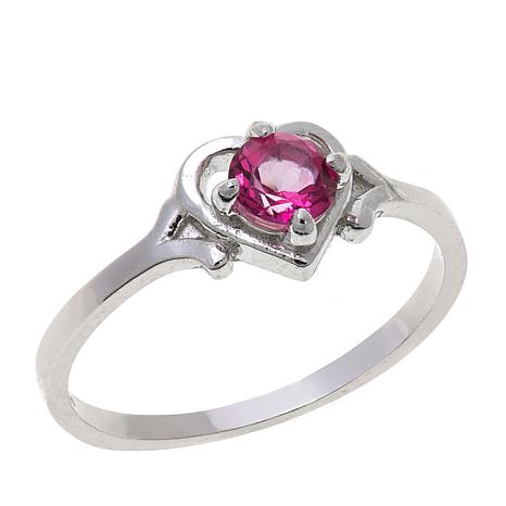 Lily Nily Girl's 0.32ct Pink Topaz Heart Ring