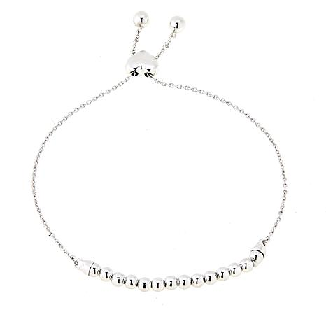 Lily Nily Girl's Sterling Silver Bead Adjustable Bracelet