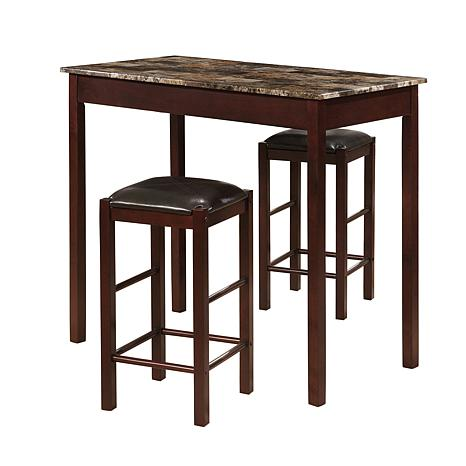 Linon Home Greenville 3-piece Tavern Set - Black