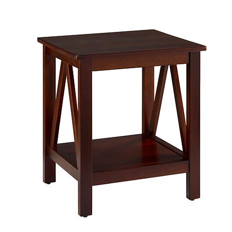 Linon Home Thomas End Table - Antique Tobacco