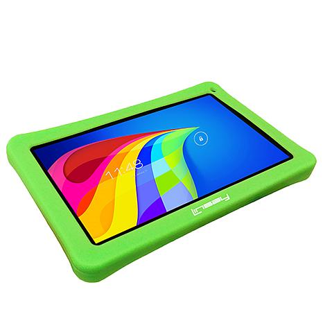 """LINSAY® 10.1"""" Kid's Quad-Core 8GB Android Tablet Bundle"""