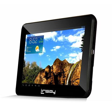 "LINSAY® 7"" Quad-Core Android 8GB Tablet with App Suite"