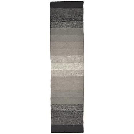 """Liora Manne 24"""" x 8' Ravella Ombre Rug - Charcoal"""