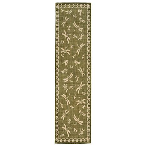 Liora Manne Terrace Dragonfly Rug Green 23 Quot X 7 1 2