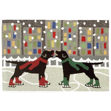"""Liora Manne Holiday Ice Dogs Rug - 30"""" x 48"""""""