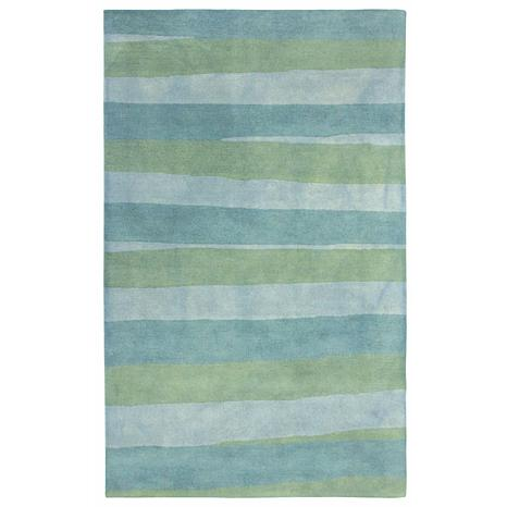 "Liora Manne Piazza Stripes Sea Rug - Breeze - 42"" x 66"""