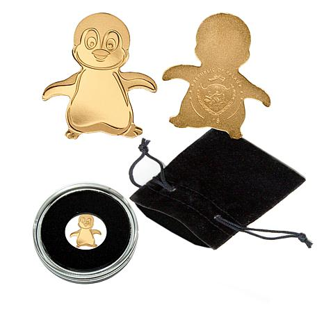 Little Emperor Penguin 99.99% Gold Palau $1 Coin Limited to 15,000