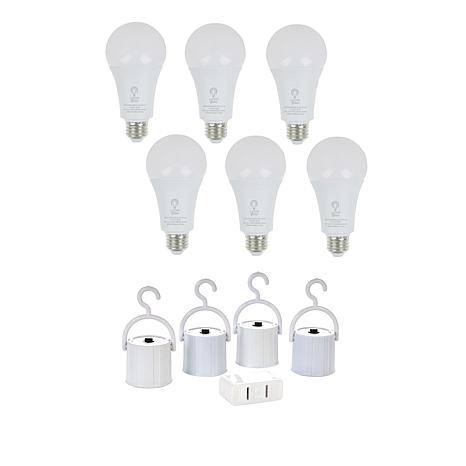 Living Glow Rechargeable LED Bulbs 6-pack with Accessories