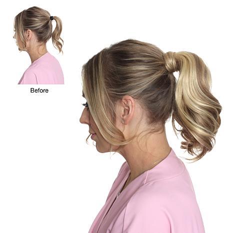 """Locks & Mane Vanilla 8"""" Human Hair Clip Ponytail"""