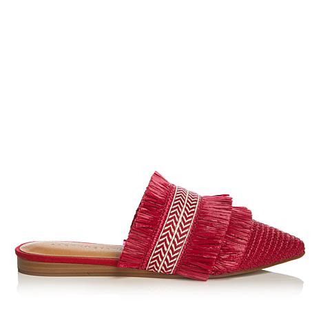 Lucky Brand Baoss Woven and Fringe Pointed-Toe Mule