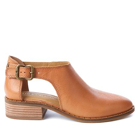 Lucky Brand Giovanna Leather or Suede Buckle Bootie