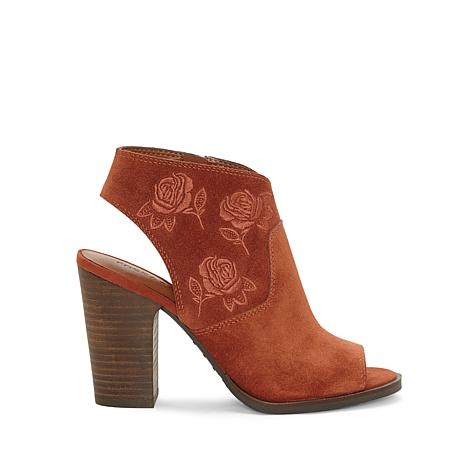 Lucky Brand Listana Suede Embroidered Shootie