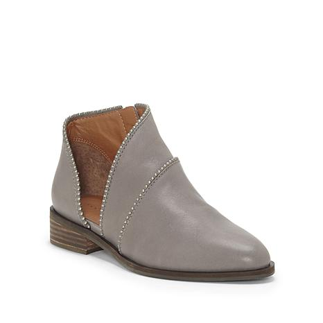 Lucky Brand Prucella Side-Cutout Leather Bootie
