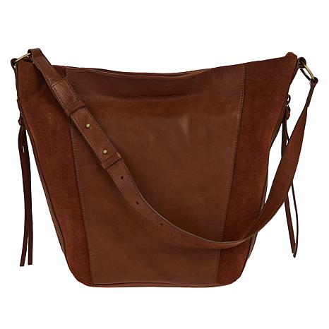 Lucky Brand Ryve Leather and Suede Hobo