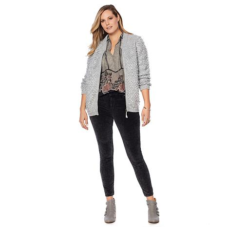 Lucky Brand Sweater Bomber - Plus