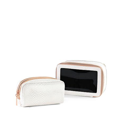 Luke Henderson Carry-All & Small Cosmetic Case - White