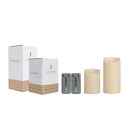 Luminara 2-pack Unscented Flameless Candles with Remotes & Gift Boxes