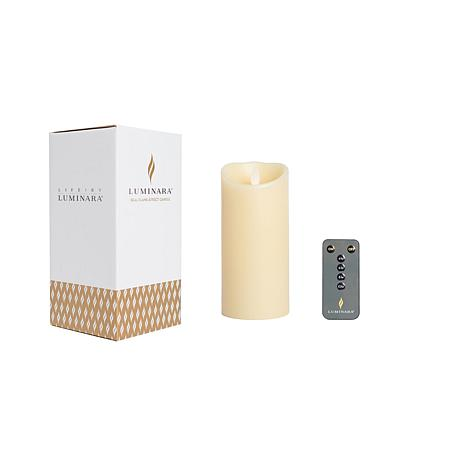 """Luminara 6"""" Unscented Wax Flameless Candle with Remote and Gift Box"""