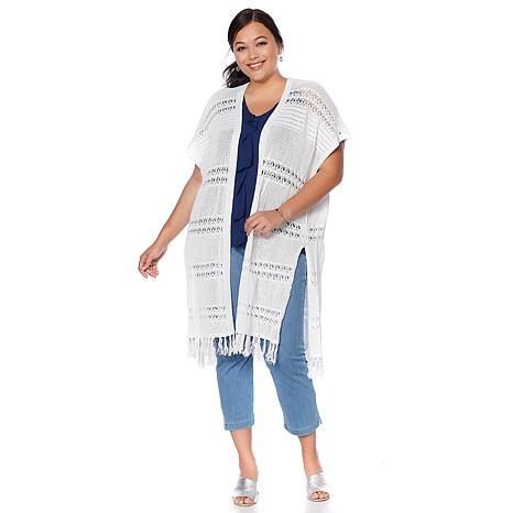 LYSSE Sabra Crochet Wrap - Plus