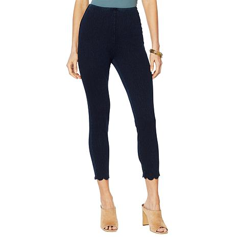 LYSSE Scallop Hem Denim Legging - Missy