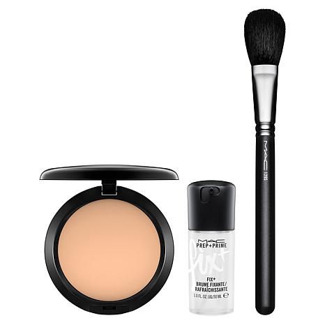 mac studio fix powder plus foundation  brush set w/mini