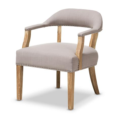 Macee French Cottage Upholstered Accent Chair