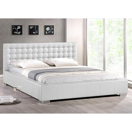 . Madison Modern Bed with Upholstered Headboard   Queen