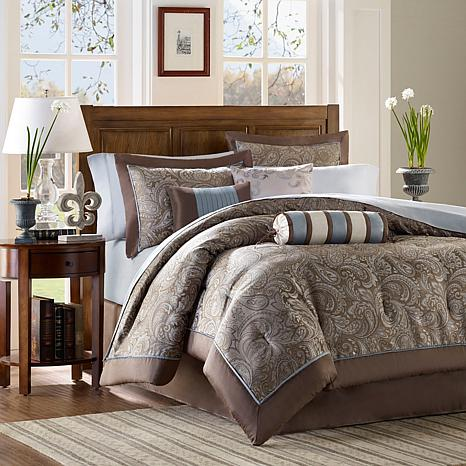 Madison Park Aubrey Comforter Set California King Blue 7198126 HSN