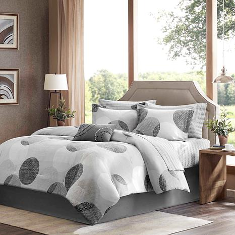Madison Park Knowles 9pc Bedding Set - Queen/Gray