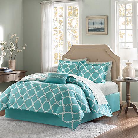 Madison Park Merritt 9pc Bedding Set - Full/Aqua