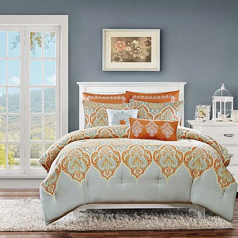 Madison Park Nisha Orange Comforter Set - King/Cal King