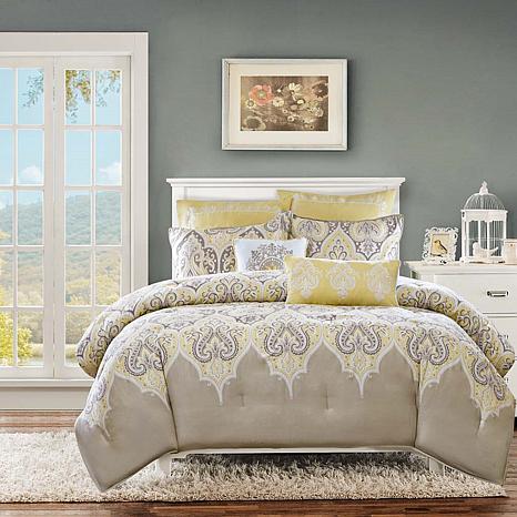 Madison Park Nisha Yellow Comforter Set - King/California ...
