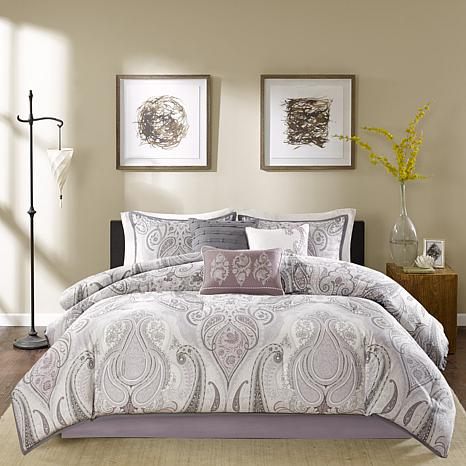 Madison Park Samir Purple Comforter Set Queen 7903355