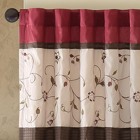Madison Park Serene Embroidered Window Valance
