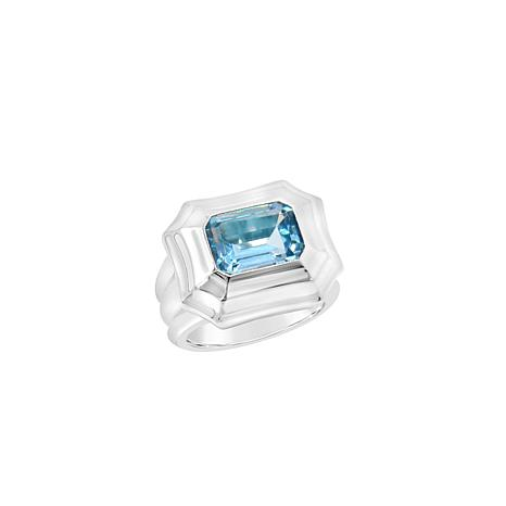 Margo Manhattan Casima Sterling Silver Blue Topaz Ring