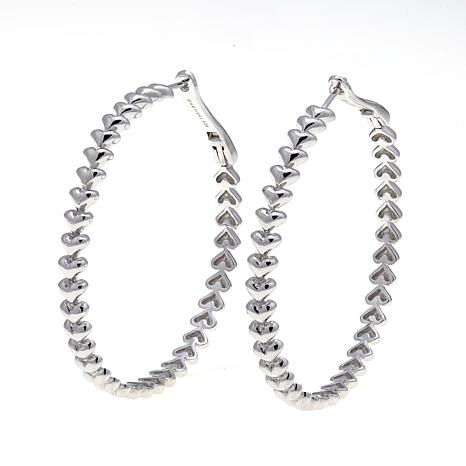 "Margo Manhattan ""Liquid Hearts"" Hoop Earrings"