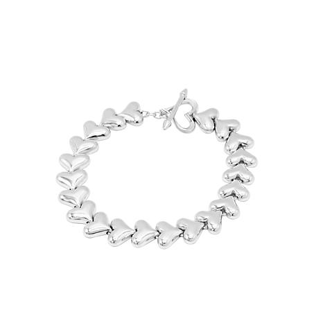 Margo Manhattan Sterling Silver Liquid Heart Bracelet