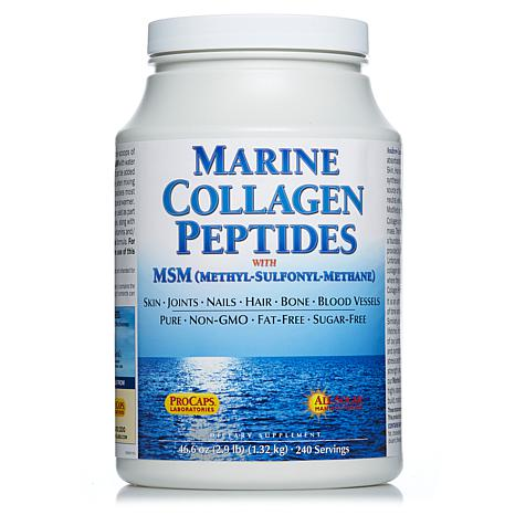 Marine Collagen Peptides with MSM - 240 Servings