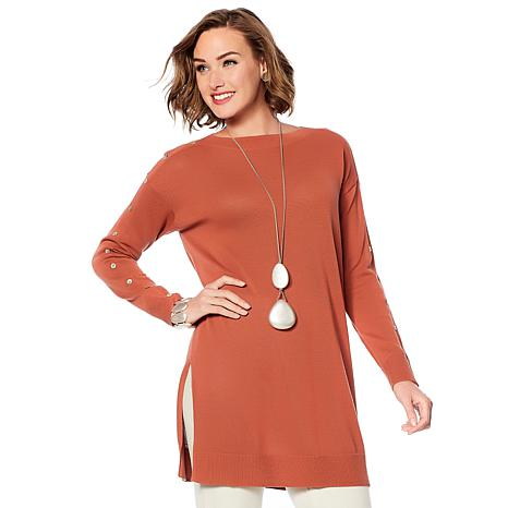MarlaWynne Boat Neck Tunic Sweater