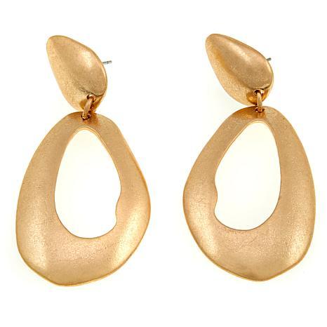 MarlaWynne Freeform Oval Cutout Drop Earrings