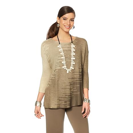 MarlaWynne Jacquard Pullover Sweater