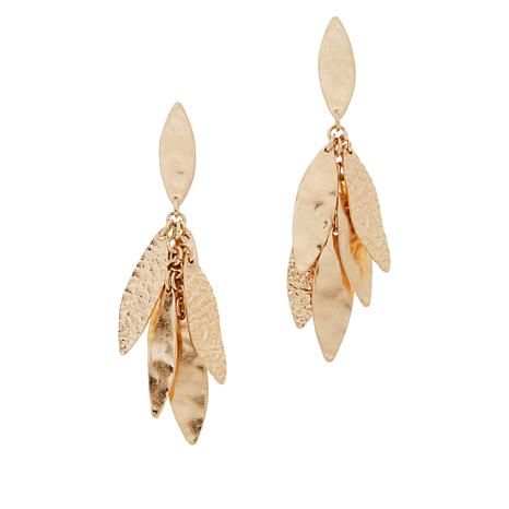 MarlaWynne Leaf Dangle Drop Earrings
