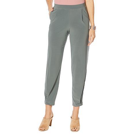 MarlaWynne Matte Jersey Pleated Slouch Pant
