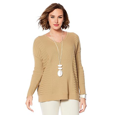 MarlaWynne Mixed Rib Sweater