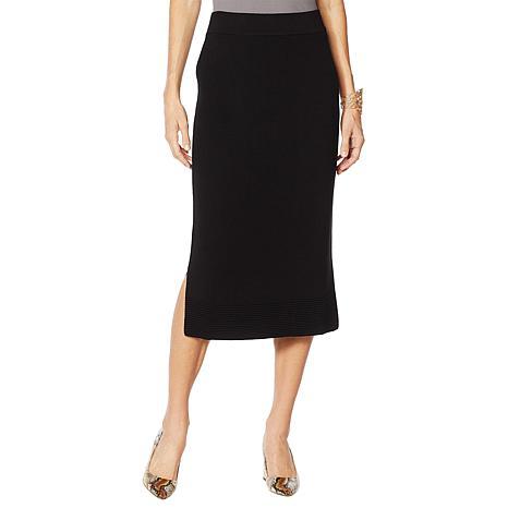 MarlaWynne Ottoman Trim Midi Sweater Skirt