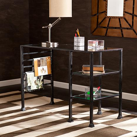 Marley Metal And Glass Writing Desk 7618401 Hsn