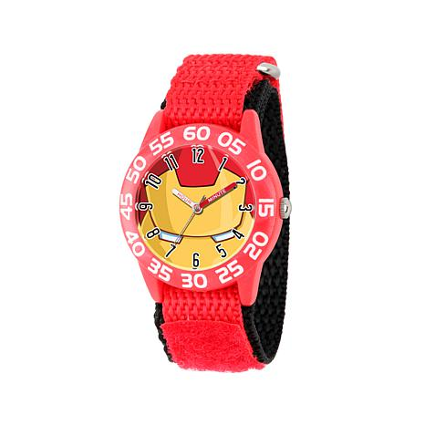 Marvel Iron Man Kid's Time-Teacher Watch with Red Strap